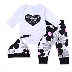 billige Sett med babyklær-Baby Pige Aktiv / Basale Trykt mønster Langærmet Lang Bomuld Tøjsæt