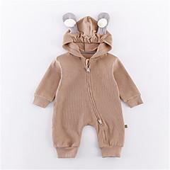 billige Babytøj-Baby Pige Basale Ensfarvet Langærmet Polyester En del Lyserød 90