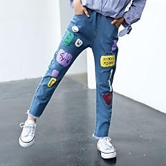 billige Jeans til piger-Børn Pige Geometrisk / Trykt mønster Jeans