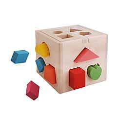 cheap -Wooden Puzzle Parent-Child Interaction Wooden 14 pcs Preschool Gift