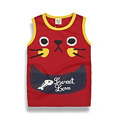 billige Babyoverdele-Baby Unisex Gade Trykt mønster Uden ærmer Bomuld T-shirt