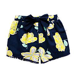 billige Babyunderdele-Baby Pige Basale Daglig Trykt mønster Polyester Shorts Navyblå