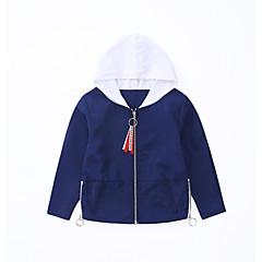 tanie Odzież dla chłopców-Dzieci Dla chłopców / Dla dziewczynek Aktywny Jendolity kolor Długi rękaw Kurtka / płaszcz