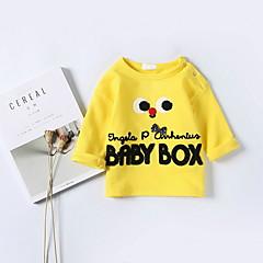 billige Babyoverdele-Baby Pige Trykt mønster 3/4-ærmer Bluse