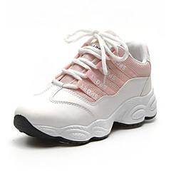 tanie Buty do biegania-Damskie Tenisówki / Obówie na co dzień Guma Bieganie Lekki, Oddychający Syntetyczny Microfiber PU / Siateczka Biały / Czarny / Różowy