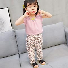 billige Babyunderdele-Baby Pige Gade Blomstret Bomuld Bukser