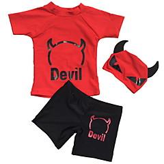 billige Badetøj til drenge-Børn Drenge Strand Ensfarvet Polyester Badetøj Rød L