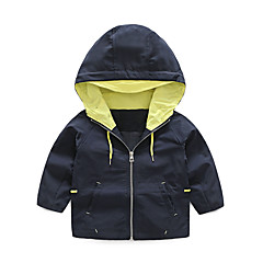 billige Gutteklær-Barn Gutt Ensfarget Langermet Trenchcoat