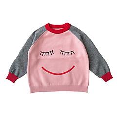billige Babyoverdele-Baby Pige Trykt mønster / Farveblok Langærmet T-shirt