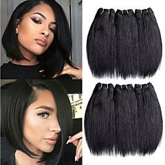 Χαμηλού Κόστους Ρεμί Εξτένσιον από Ανθρώπινη Τρίχα-Remy Τρίχα ύφανση μαλλιά Η καλύτερη ποιότητα / Νέα άφιξη / Για μαύρες γυναίκες Μαλαισιανή Μεσαίο Μήκος 300 g Περισσότερο από 1 Χρόνο Σκηνή / Απόκριες / Γαμήλιο Πάρτι