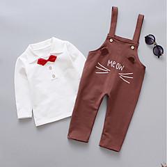tanie Odzież dla chłopców-Dzieci Dla chłopców Aktywny / Podstawowy Szkoła Nadruk Nadruk Długi rękaw Bawełna Komplet odzieży