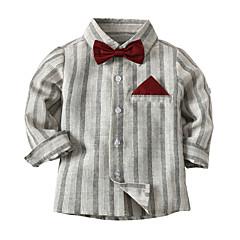baratos Roupas de Meninos-Infantil / Bébé Para Meninos Sólido / Estampado / Estampa Colorida Manga Longa Blusa