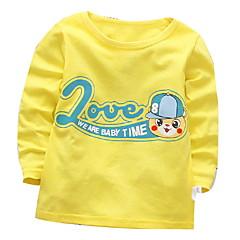 billige Babyoverdele-Baby Pige Trykt mønster Langærmet Bluse
