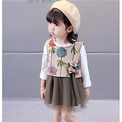 billige Sett med babyklær-Baby Pige Basale Geometrisk Uden ærmer Tøjsæt