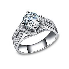 billige Motering-Dame Kubisk Zirkonium Elegant Stable Ring Løftering - Platin Belagt Tro Koreansk 6 / 7 / 8 / 9 Hvit Til Engasjement Gave