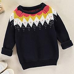 billige Sweaters og cardigans til drenge-Børn Drenge Basale Ensfarvet Langærmet Polyester Trøje og cardigan Hvid
