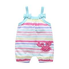billige Babytøj-Baby Pige Prikker / Trykt mønster Uden ærmer En del