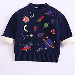 billige Sweaters og cardigans til drenge-Børn / Baby Drenge Galakse Langærmet Trøje og cardigan