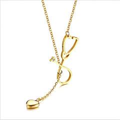 ieftine Coliere din Fir-Pentru femei Lung Coliere Colier / Lănțișor - 18K Placat cu Aur, Oțel titan Auriu, Argintiu 55.5 cm Coliere 1 buc Pentru Nuntă, Zilnic