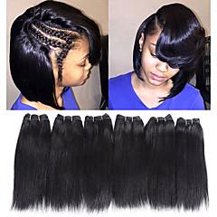 Χαμηλού Κόστους Ρεμί Εξτένσιον από Ανθρώπινη Τρίχα-Remy Τρίχα ύφανση μαλλιά Η καλύτερη ποιότητα / Νέα άφιξη / Για μαύρες γυναίκες Ινδική Μεσαίο Μήκος 300 g Περισσότερο από 1 Χρόνο Σκηνή / Απόκριες / Γαμήλιο Πάρτι