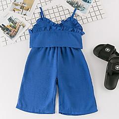 billige Tøjsæt til piger-Børn / Baby Pige Ensfarvet Uden ærmer Tøjsæt