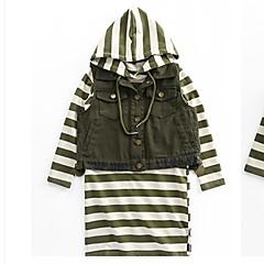 billige Tøjsæt til piger-Børn Pige Basale Ensfarvet Langærmet Tøjsæt