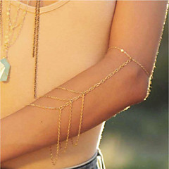 baratos Bijoux de Corps-Franjas Cadeia braço Criativo Simples, Na moda, Fashion Mulheres Dourado Bijuteria de Corpo Para Rua / Feriado