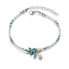 baratos Bijoux de Corps-Fio Único tornozeleira - Resina Estrela do Mar Na moda, Romântico, Doce Azul Para Presente / Para Noite / Mulheres