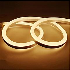 billiga Dekorativ belysning-1m Flexibla LED-ljusslingor 120 lysdioder 2835 SMD Varmvit / Vit / Gul Vattentät / Klippbar / Dekorativ 12 V 1st