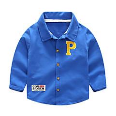 Χαμηλού Κόστους Μπλουζάκια για αγόρια-Παιδιά Αγορίστικα Μονόχρωμο Μακρυμάνικο Πουκάμισο
