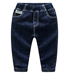 billige Drengebukser-Baby Drenge Ensfarvet Jeans