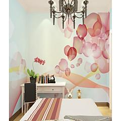 billige Tapet-tilpasset 3d veggmaleri tapet rosa petal kart passer for soverommet jente rom bakgrunn veggen dekker 448 × 280cm