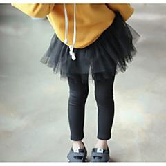billige Bukser og leggings til piger-Børn Pige Basale Ensfarvet Bomuld Leggings