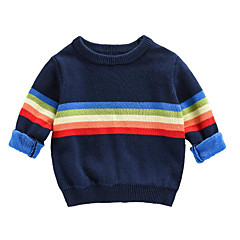 billige Sweaters og cardigans til drenge-Børn Drenge Stribet Langærmet Trøje og cardigan