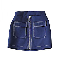 お買い得  女児 スカート-子供 女の子 ストリートファッション パッチワーク パッチワーク スカート
