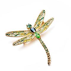 billige Motebrosjer-Dame Kubisk Zirkonium Klassisk Nåler - Dragonfly Kunstnerisk, Luksus, Klassisk Brosje Grønn Til Gave / Aftenselskap