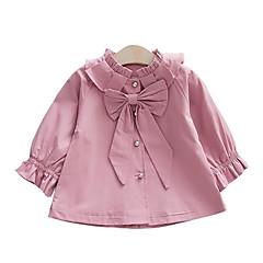 tanie Odzież dla dziewczynek-Brzdąc Dla dziewczynek Podstawowy Jendolity kolor Długi rękaw Trencz
