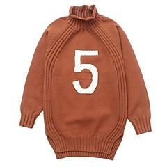 billige Sweaters og cardigans til piger-Børn Pige Ensfarvet / Patchwork Langærmet Trøje og cardigan