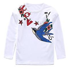 billige Pigetoppe-Børn Pige Aktiv Trykt mønster Langærmet Bomuld T-shirt