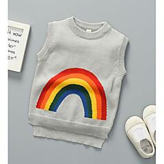 billige Sweaters og cardigans til drenge-Børn Drenge Stribet / Trykt mønster Uden ærmer Trøje og cardigan