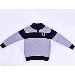 billige Sweaters og cardigans til drenge-Børn Drenge Farveblok Langærmet Trøje og cardigan