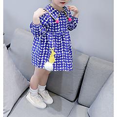 billige Babykjoler-Baby Pige Prikker Langærmet Kjole