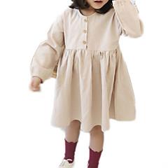 tanie Odzież dla dziewczynek-Dzieci Dla dziewczynek Jendolity kolor Długi rękaw Sukienka