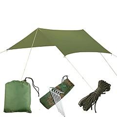 billige Telt og ly-5 person utendørs Familie Camping Telt Regn-sikker Ultra Lett (UL) Anvendelig UV-bestandig Pop-up Med enkelt lag 1000-1500 mm Telt til Strand Camping / Vandring / Grotte Udforskning Picnic