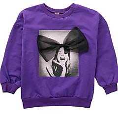 billige Hættetrøjer og sweatshirts til piger-Børn Pige Basale Ensfarvet / Trykt mønster Langærmet Normal Polyester Hættetrøje og sweatshirt Lyserød