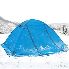 billige Telt og ly-2 personer Telt Dobbelt Lagdelt Telt Ett Rom  utendørs Vindtett >3000 mm  til Camping / Vandring / Grotte Udforskning Aluminium Legering 7005 210*115*65 cm / Regn-sikker