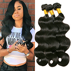 3 Bundles Brazilian Hair Body Wave 8A Human Hair Extension Bundle Hair One  Pack Solution 8-28 inch Natural Natural Color Human Hair Weaves Machine  Made ... 100123f54df7