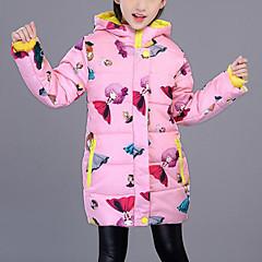 tanie Odzież dla dziewczynek-Dzieci Dla dziewczynek Aktywny / Moda miejska Wyjściowe Nadruk Nadruk Długi rękaw Długi Odzież puchowa / pikowana