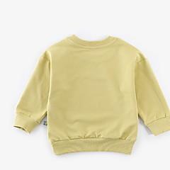 billige Sweaters og cardigans til babyer-Baby Pige Basale Daglig Ensfarvet / Trykt mønster Langærmet Normal Polyester Trøje og cardigan Blå 100