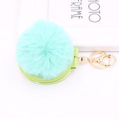 baratos Chaveiros-Chaveiro Azul / Rosa claro / Verde Claro Formato Circular Pêlo de Coelho, Liga Simples, Casual Para Escola / Encontro